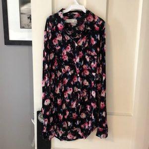 Floral Collard Shirt